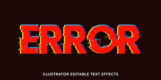 Fout bewerkbare tekststijleffecten
