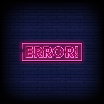 Fout neon signs style text