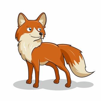 Fox cartoon schattige herfst dieren