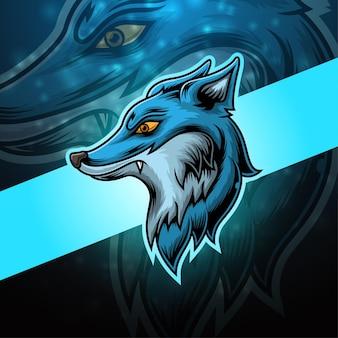 Fox esport mascotte logo ontwerp