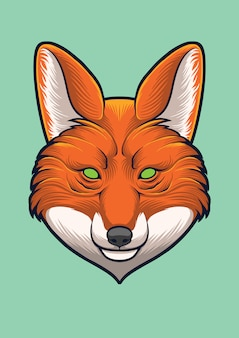 Fox head vector ontwerp illustratie