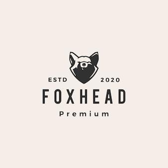 Fox hoofd hipster vintage logo pictogram illustratie