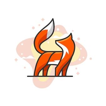 Fox-kleur vector sjabloon