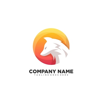 Fox kleurrijke ontwerp illustratie vector sjabloon
