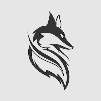 Fox leaf logo design vector