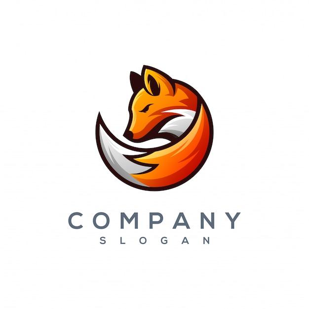 Fox logo ontwerp vector