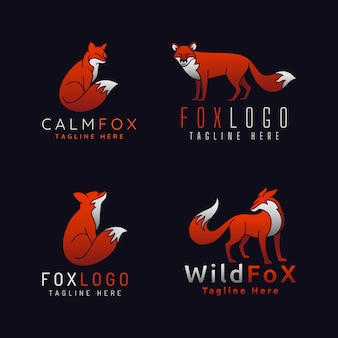 Fox logo's met 4 stijl op zwart