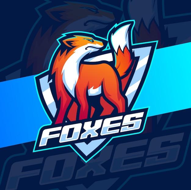 Fox mascotte esport logo-ontwerp