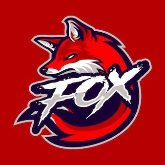 Fox-mascotte voor sportlogo