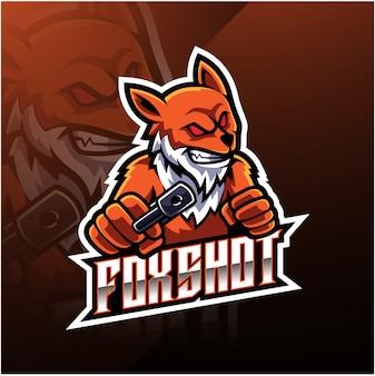 Fox schoot esport logo-ontwerp