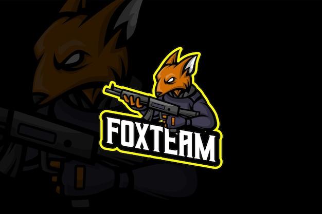 Fox team - esport-logo sjabloon