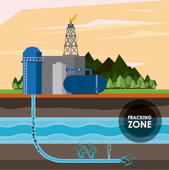 Frackingzone en olie-industrie