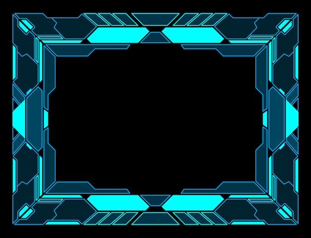 Frame abstracte technologie toekomst interface hud ontwerp.