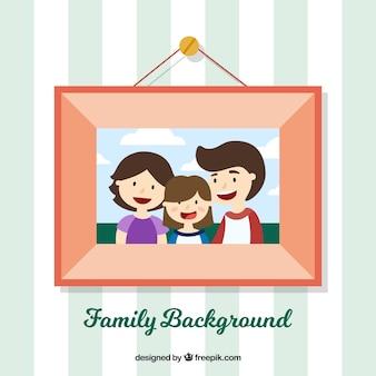 Frame achtergrond met familiefoto
