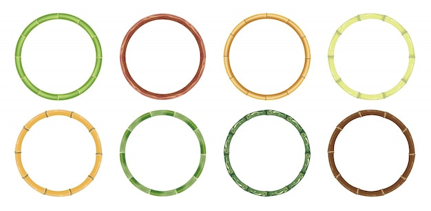 Frame bamboe cirkel