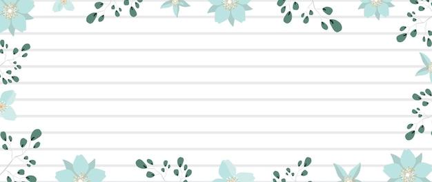 Frame bloemen en bladeren met copyspace.