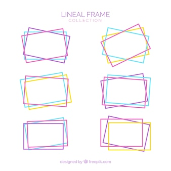 Frame-collectie met lineaire stijl