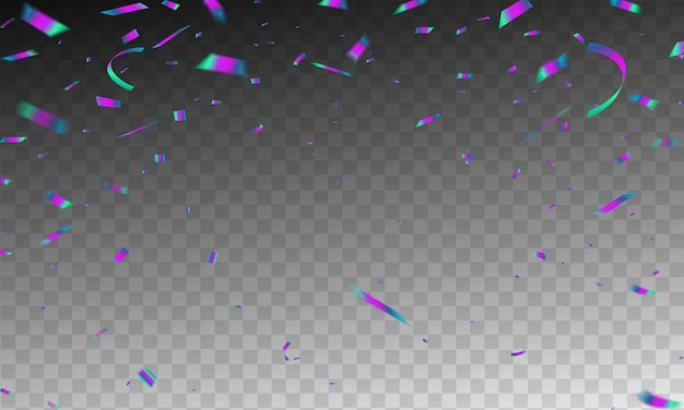 Frame confetti viering carnaval linten.