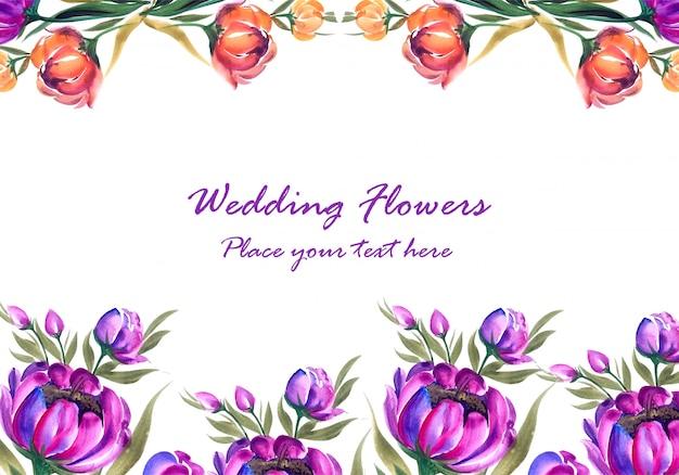 Frame gemaakt van decoratieve bloemensamenstelling