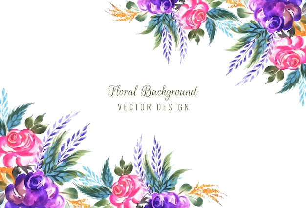 Frame gemaakt van decoratieve bloemensamenstellingsachtergrond
