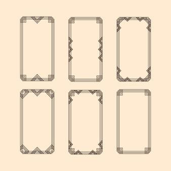 Frame geometrische vorm.
