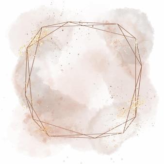 Frame in abstracte aquarel geometrische stijl