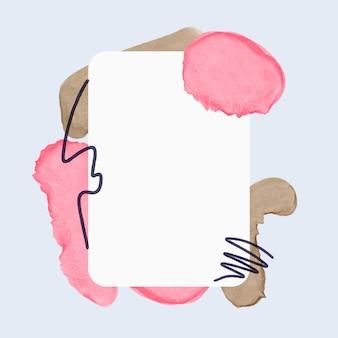 Frame in abstracte stijl met vlekken