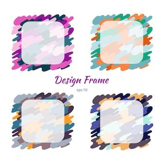 Frame kleurrijke camouflage en textuur. vectorontwerp.