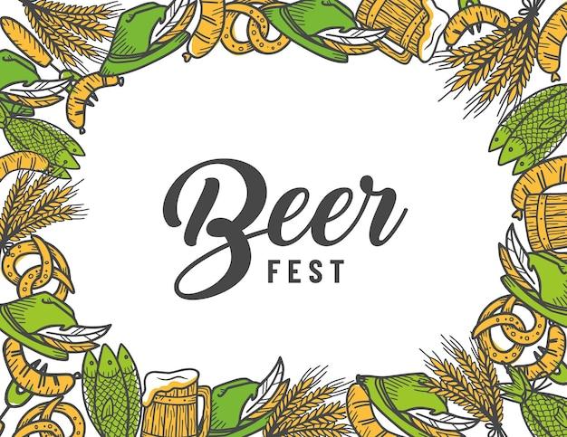 Frame met ambachtelijke bierpul en hop