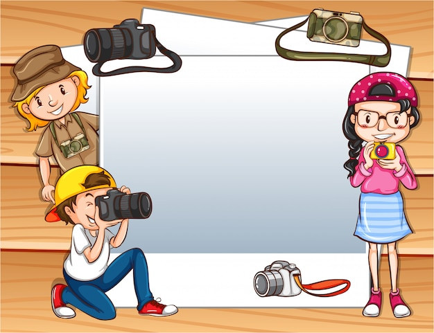 Frame met avontuurlijke kinderen