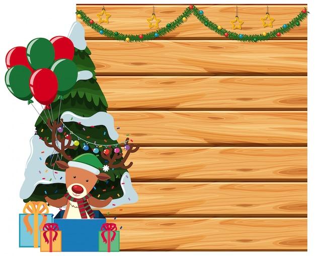 Frame met de achtergrond van het kerstmisthema