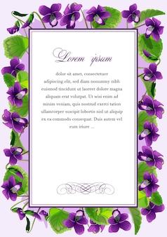Frame met de bloemen van violet