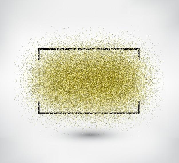 Frame met glitter achtergrond