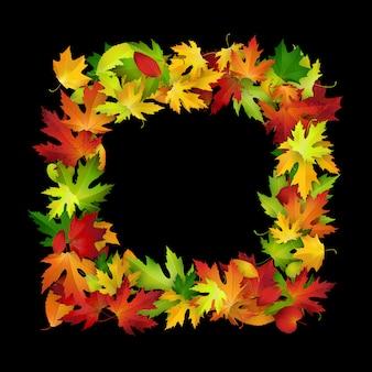 Frame met kleurrijke herfstbladeren