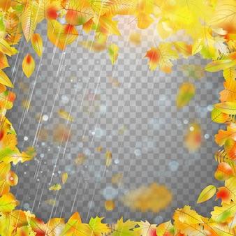 Frame met kleurrijke herfstbladeren.