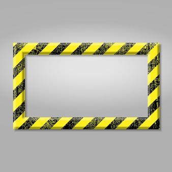 Frame met lijn gele en zwarte kleur.
