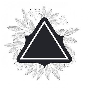 Frame met planten en kruiden geïsoleerd pictogram