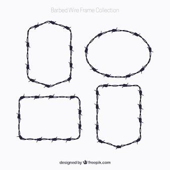 Frame met prikkeldraadframe van vier