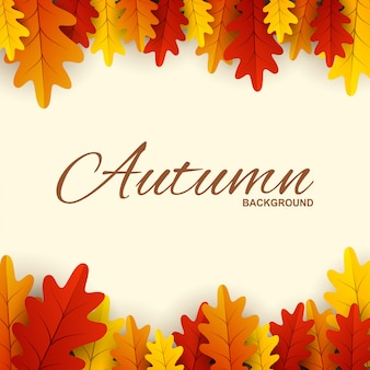 Frame met rode, oranje en gele herfstbladeren