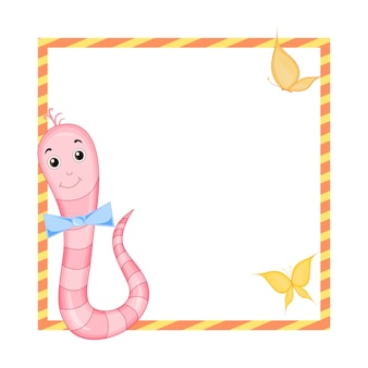 Frame met tekenfilm dieren, illustratie van schattige dieren