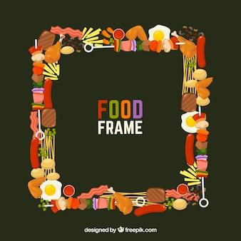 Frame met verschillend voedsel