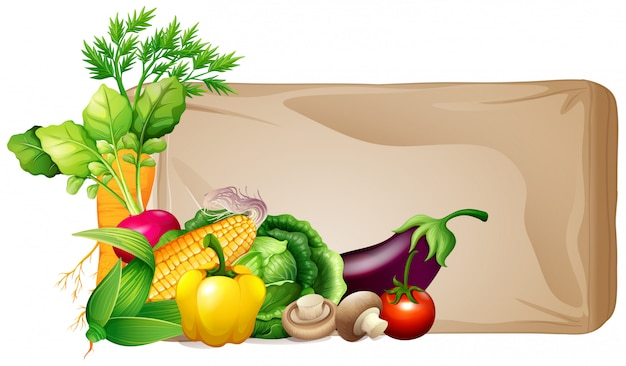 Frame met verse groenten