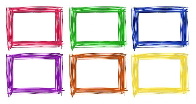 Frame ontwerp in zes kleuren