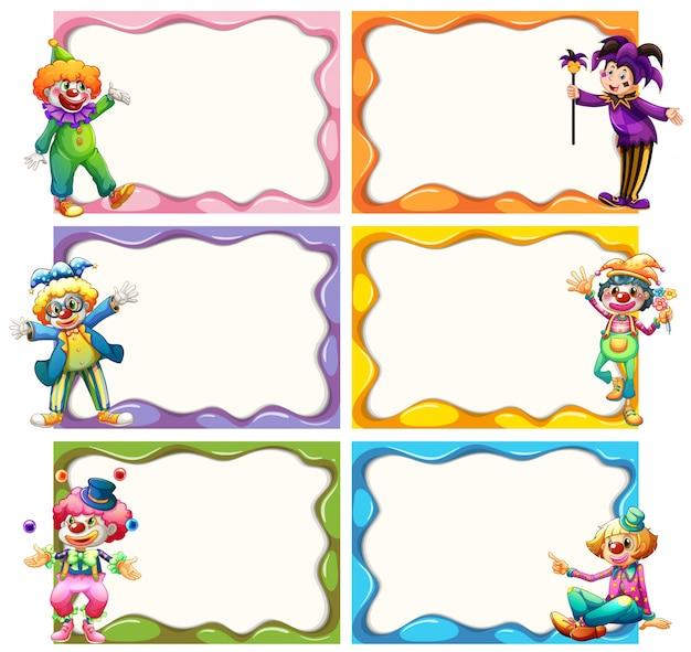 Frame sjabloon met jesters