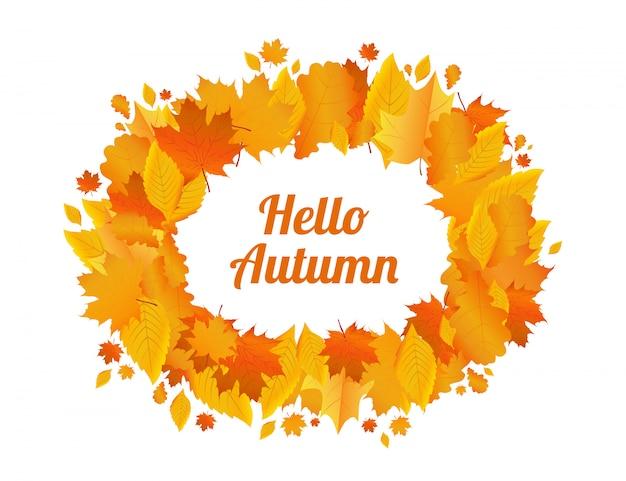 Frame van de herfstbladeren