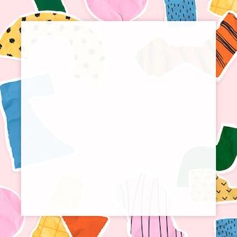 Frame vector met pastel gescheurd papier