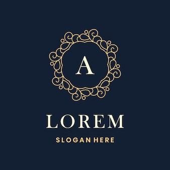 Frame vector ontwerpsjabloon vintage logo