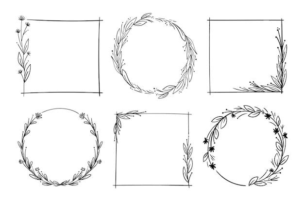 Frames geïsoleerd op een witte achtergrond
