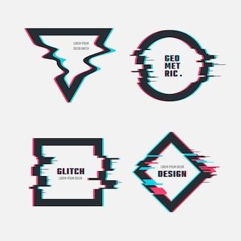 Frames met glitch tv-vervormingseffect