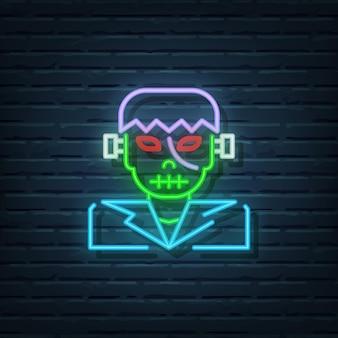 Frankenstein neon sign vector elementen